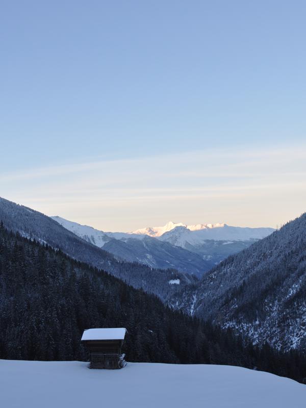 Blick Schnee Ferien